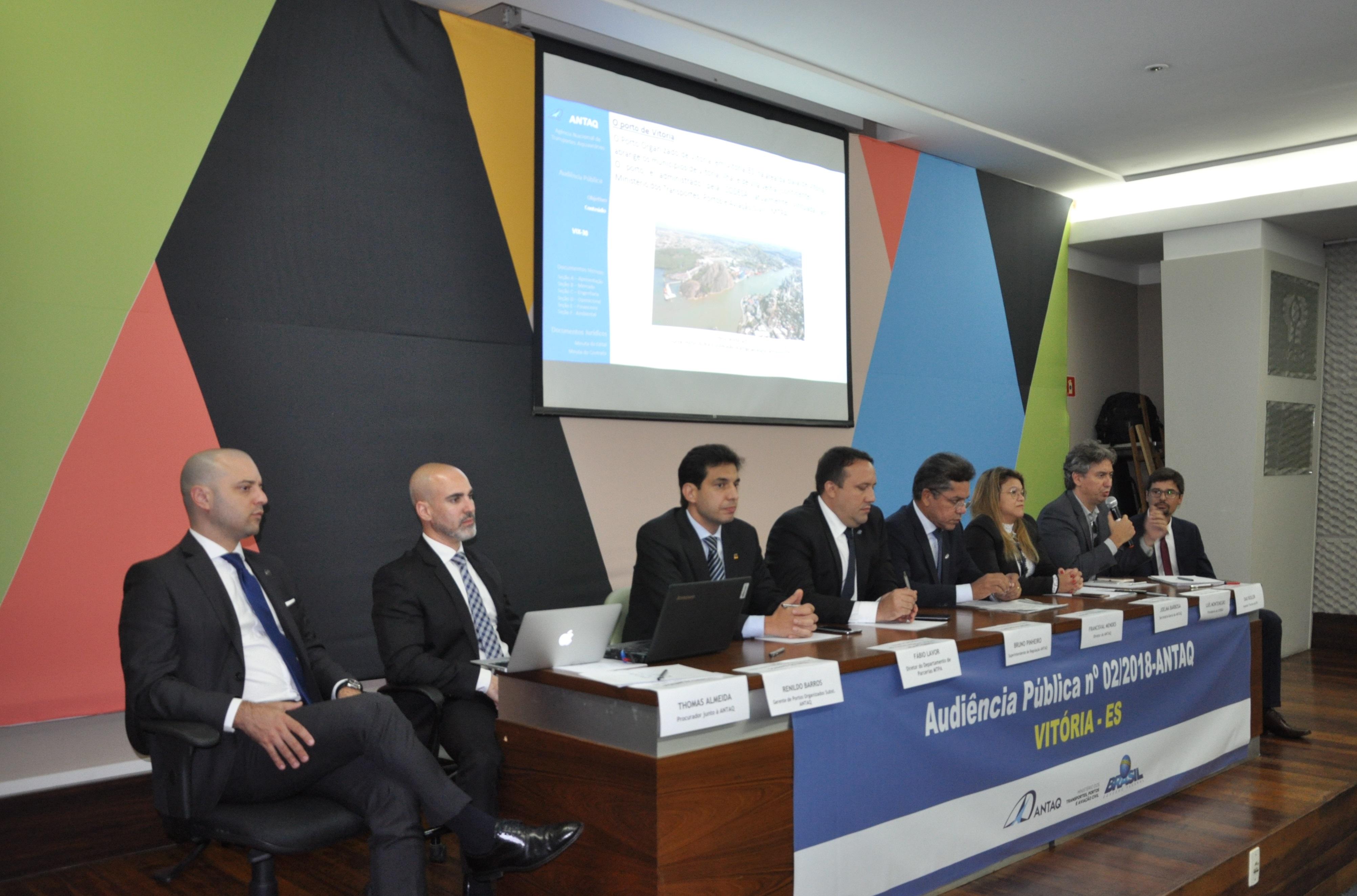 Antaq realiza audiência pública sobre TGL em Capuaba